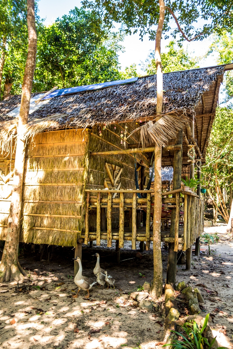 Bungalows y ocas, Koh Rong
