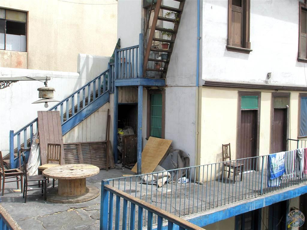 Patio de la pensión de Antofagasta