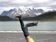 Con las Torres del Paine al fondo