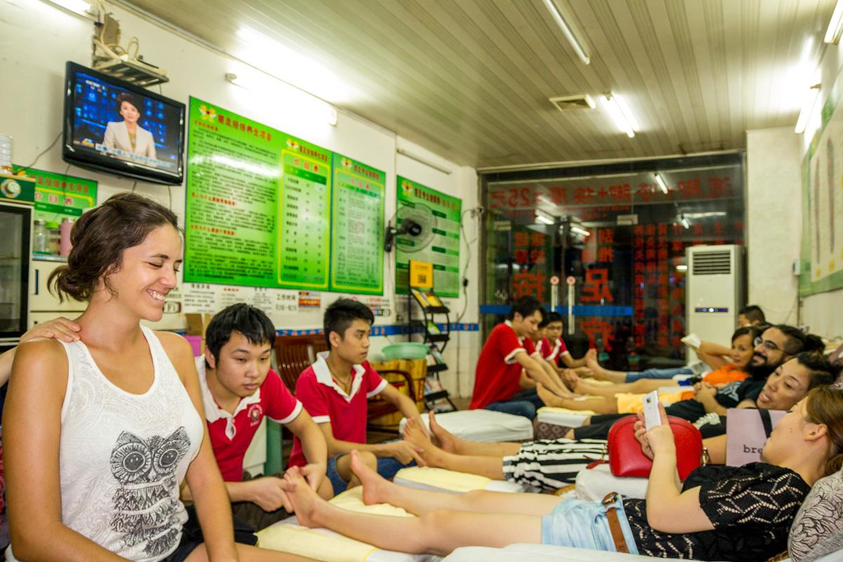 Probando los masajes chinos, Guilin