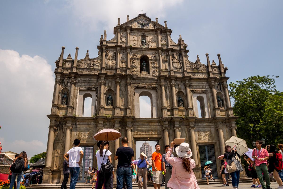 Fachada de la catedral de San Pablo, Macao