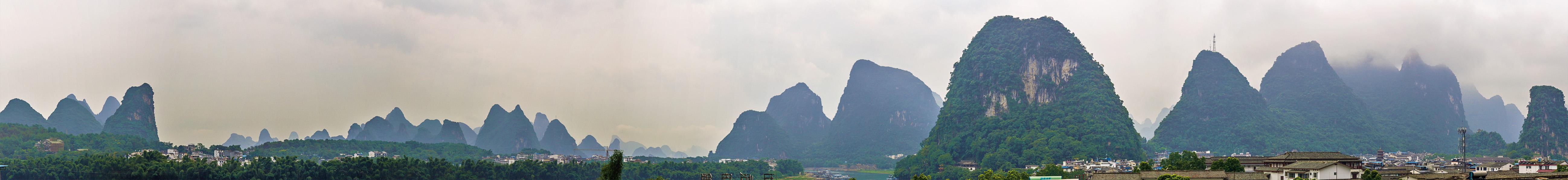 Panorámica de Yangshuo