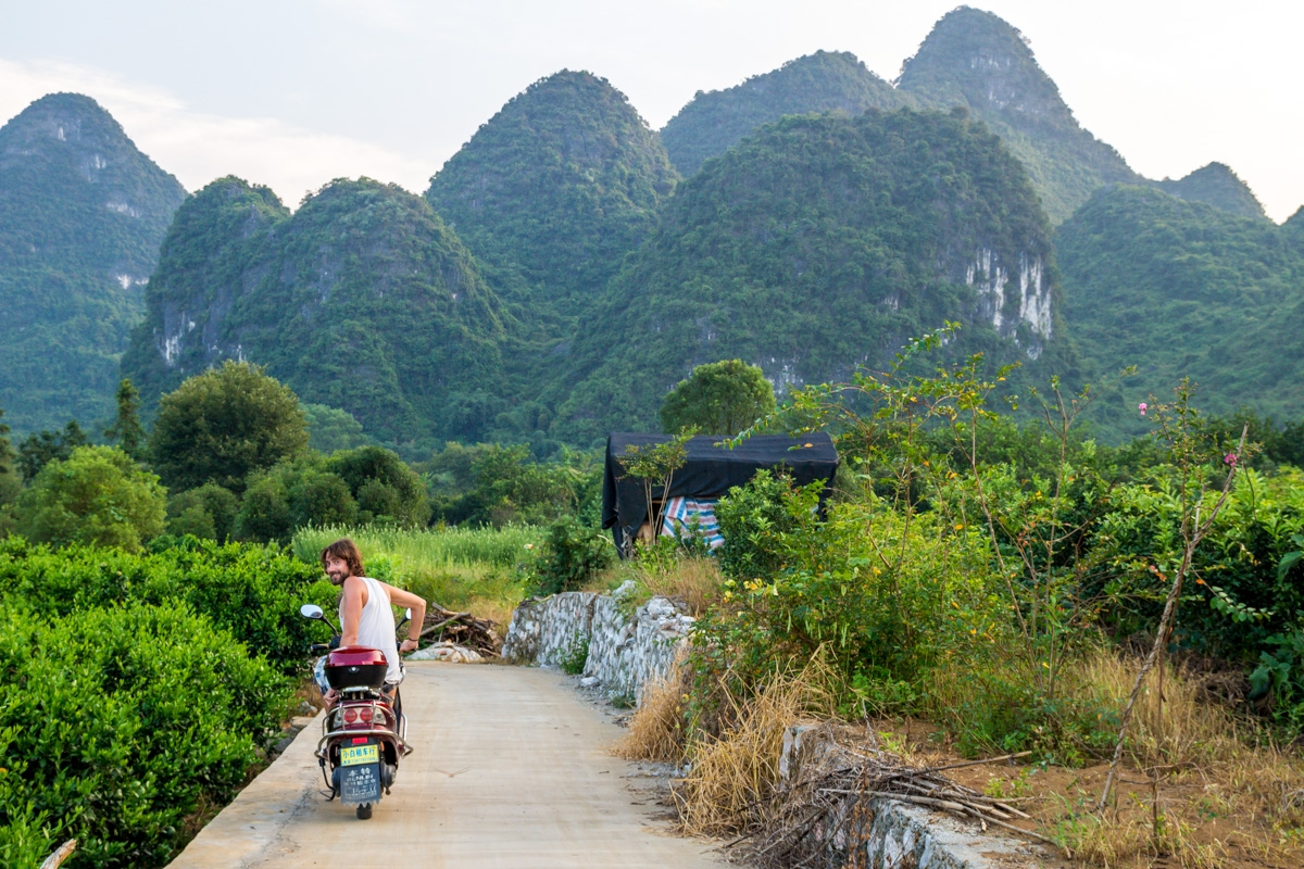 Explorando los caminos secundarios, Yangshuo