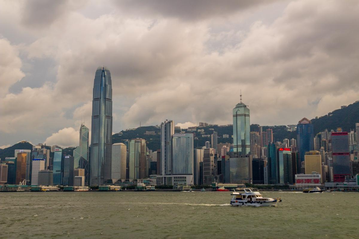 El skyline de la isla de Hong Kong