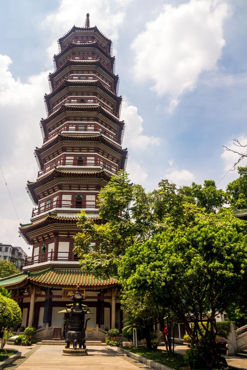 Gran pagoda en Guangzhou