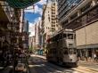Tranvías y vida en Hong Kong