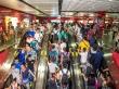 Metro de Guangzhou, cillones de chinos por doquier