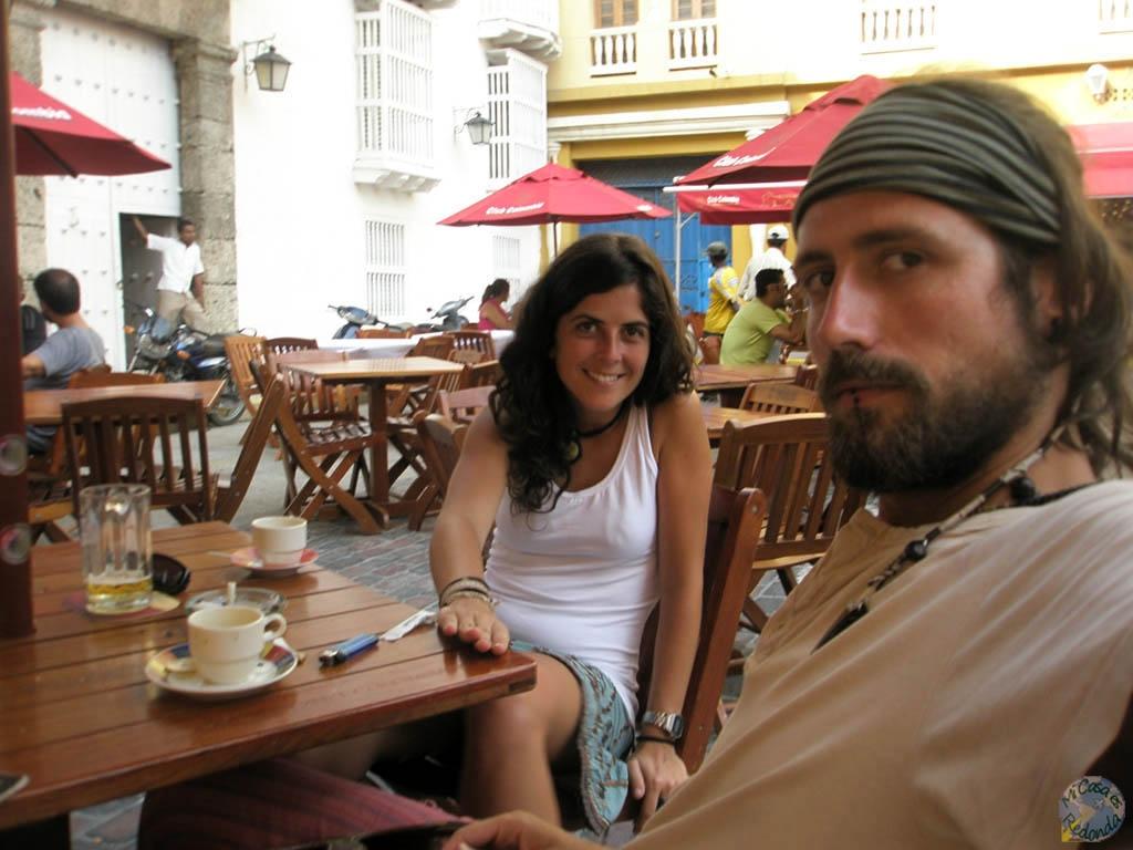 En Cartagena, con Anna