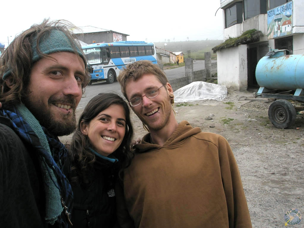 Con Anna y Sven en Quilotoa