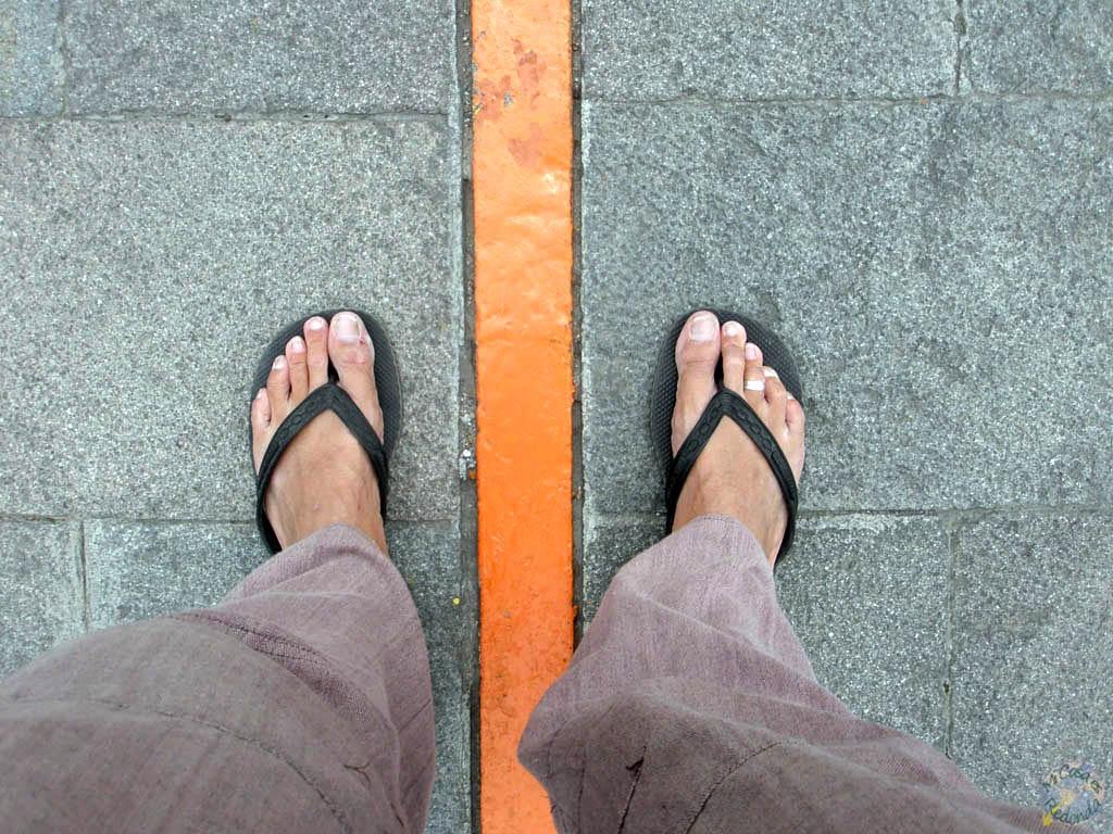 El ecuador entre mis pies