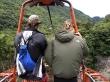 Cruzando en cesta