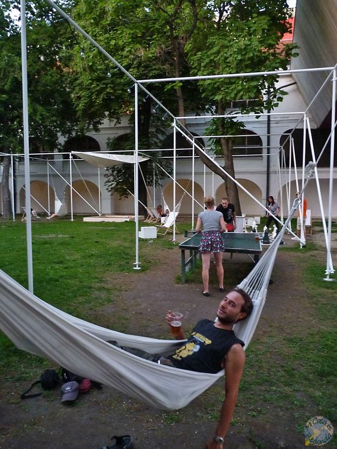 Relax en un bar al aire libre