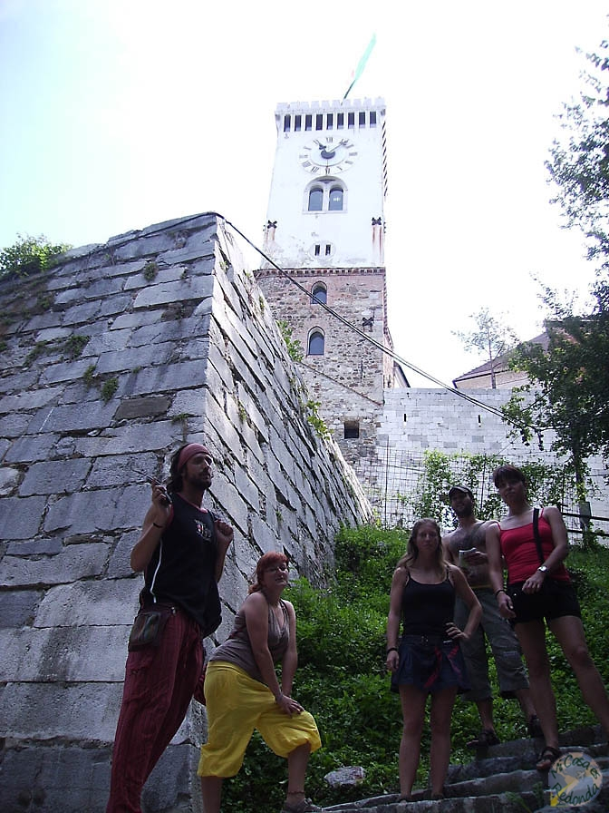 Antes de subir al castillo de Ljubljana