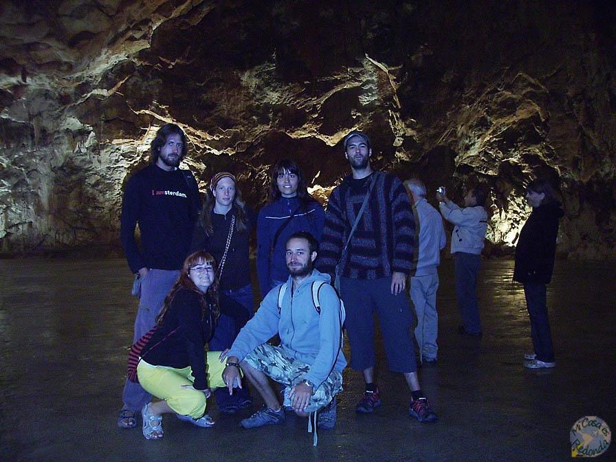 en las cuevas de Postojna
