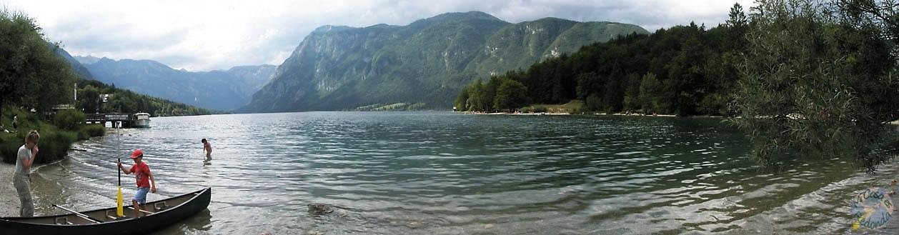 Panorámica del lago Bohinj