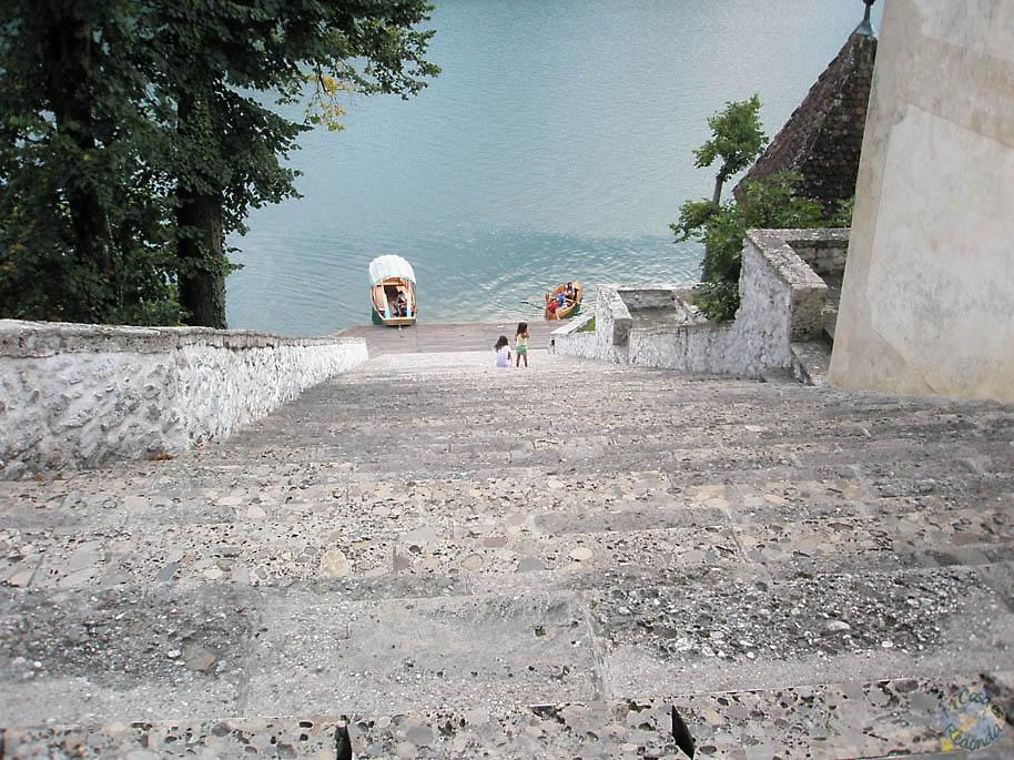 Escaleras en el islote