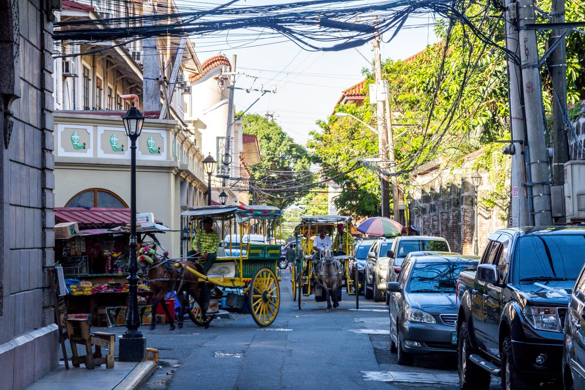 Las calles de Intramuros, Manila