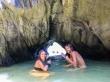El túnel de entrada a la laguna