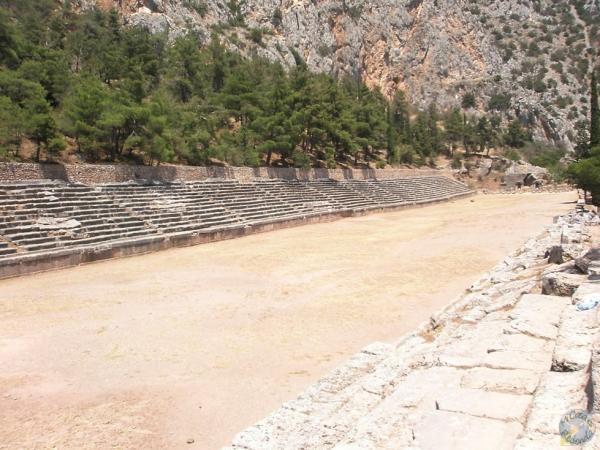 El estadio del Santuario de Delfos