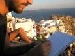 Escribiendo en el diario