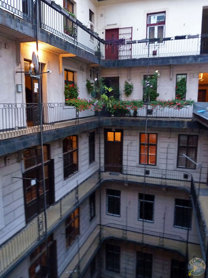 El edificio del Activity Hostel, Budapest