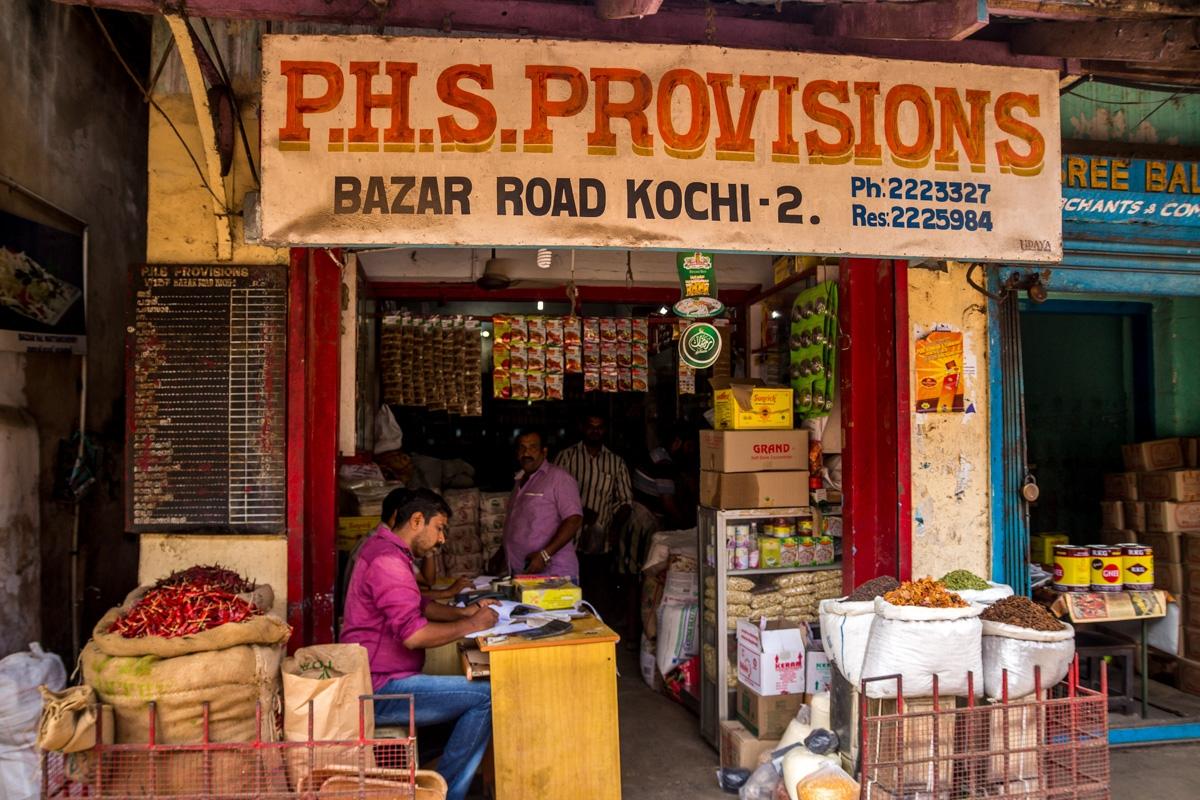 Pequeñas tiendas en Kochi