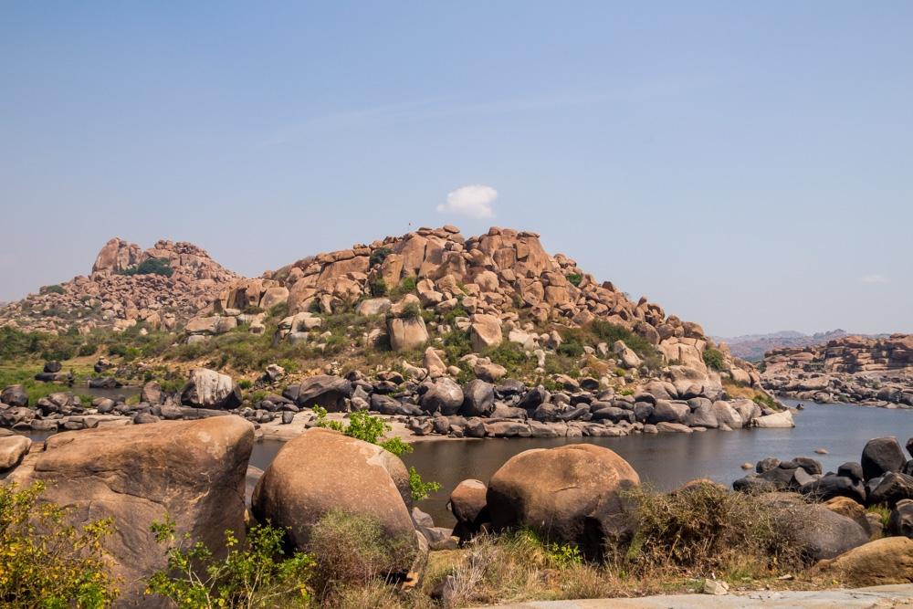 El paisaje alrededor de Hampi