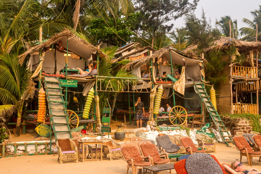 Lugares de chill out en Anjuna, Goa