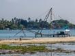 Pescando con las redes chinas, Fort Kochi