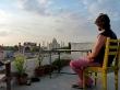 Terraza de mi hotel de Agra