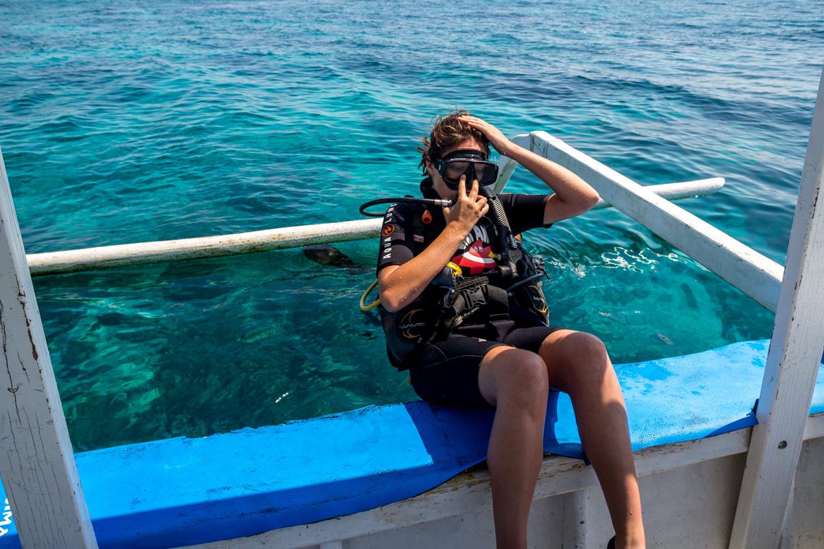 A por su primera inmersión!