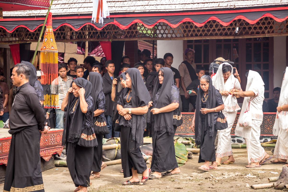 De luto, funeral Tana Toraja