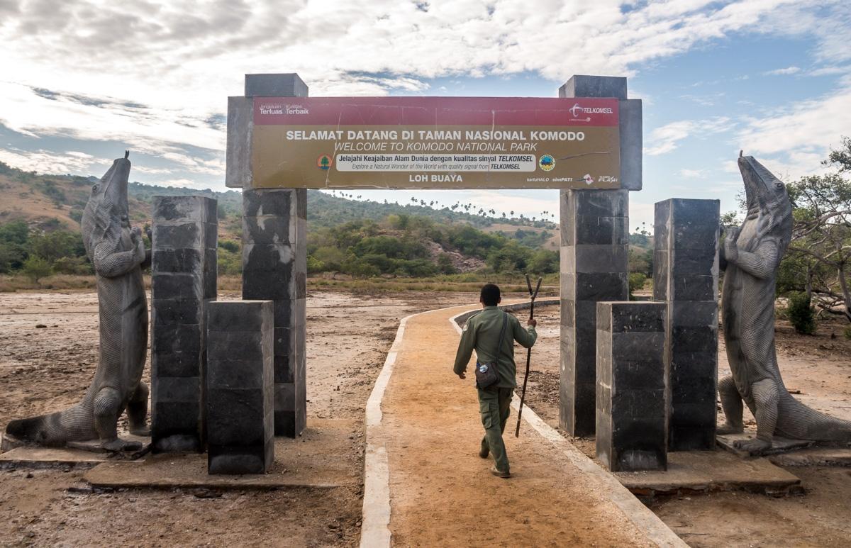 Llegando a Rinca, la prima menos conocida de Komodo