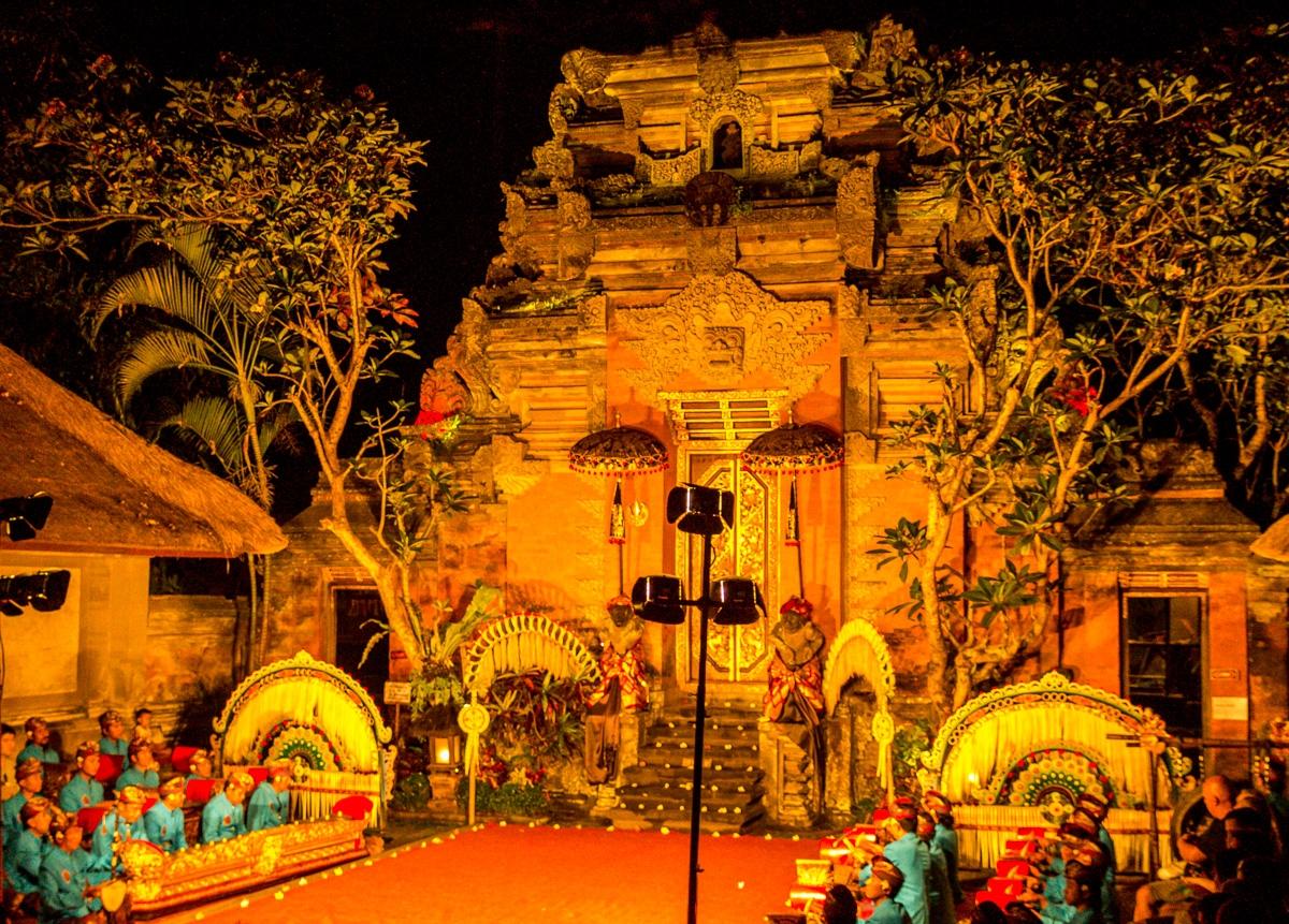 Espectáculo de danza en Ubud, Bali