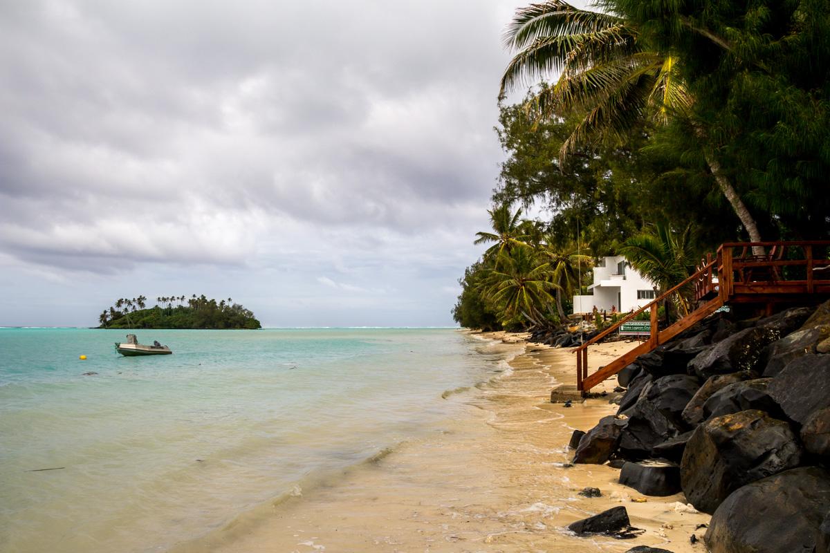 Marea alta en Rarotonga, Islas Cook