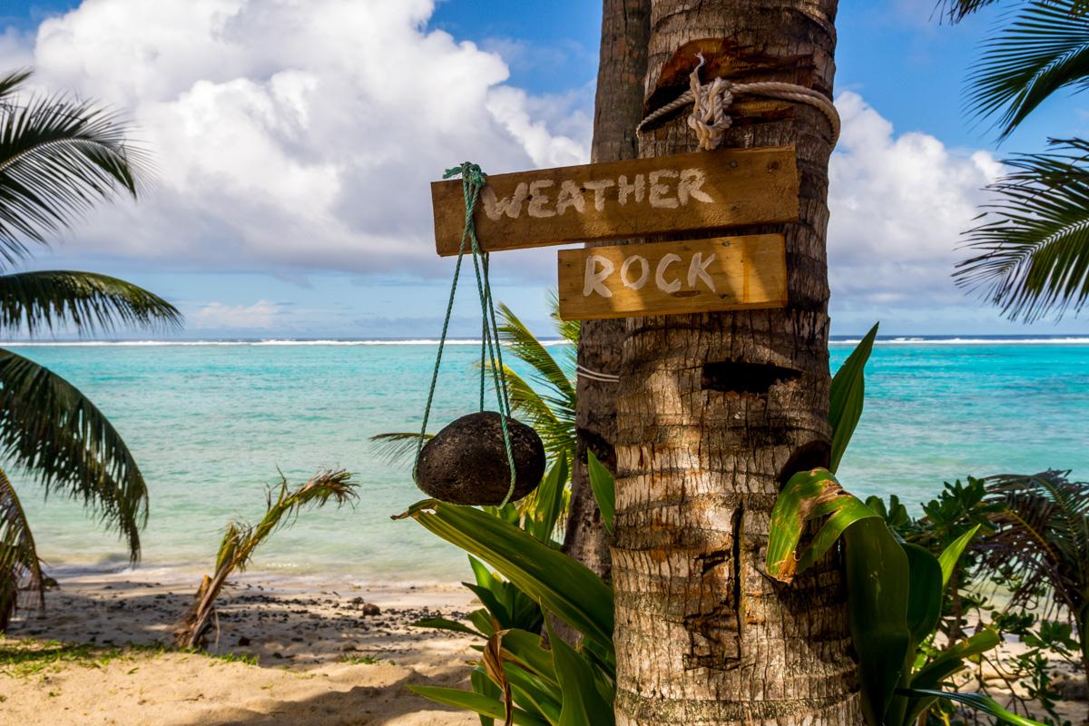 El hombre del tiempo de las islas Cook