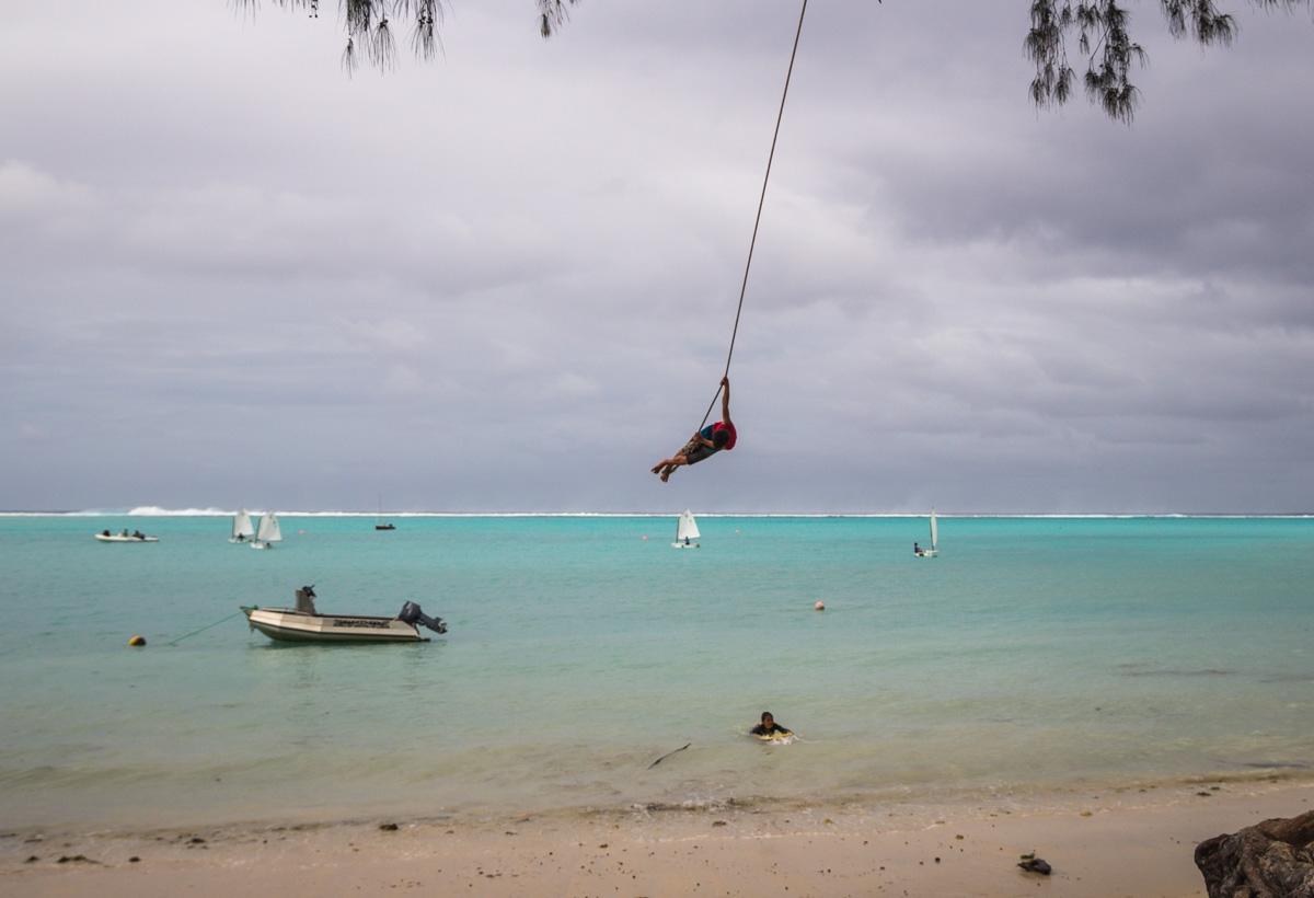 Columpio gigante, Rarotonta, Islas Cook