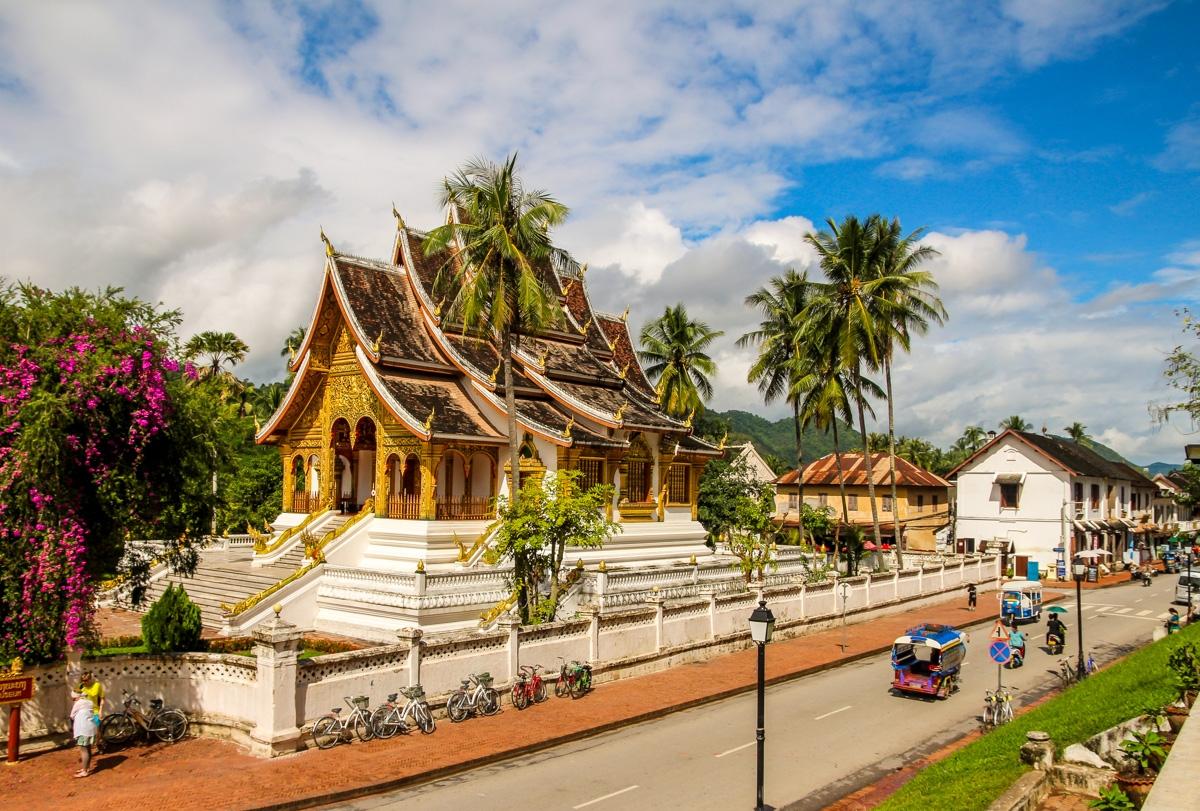 Junto al Palacio Real, Luang Prabang