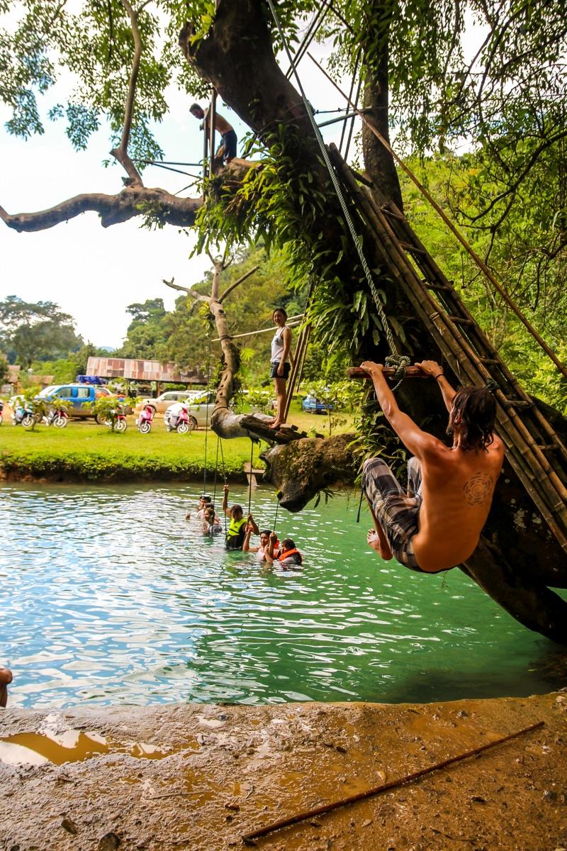 Vamos al agua otra vez, Blue Lagoon, Vang Vieng