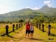 Con la solanera destruyéndonos en  Vat Phou