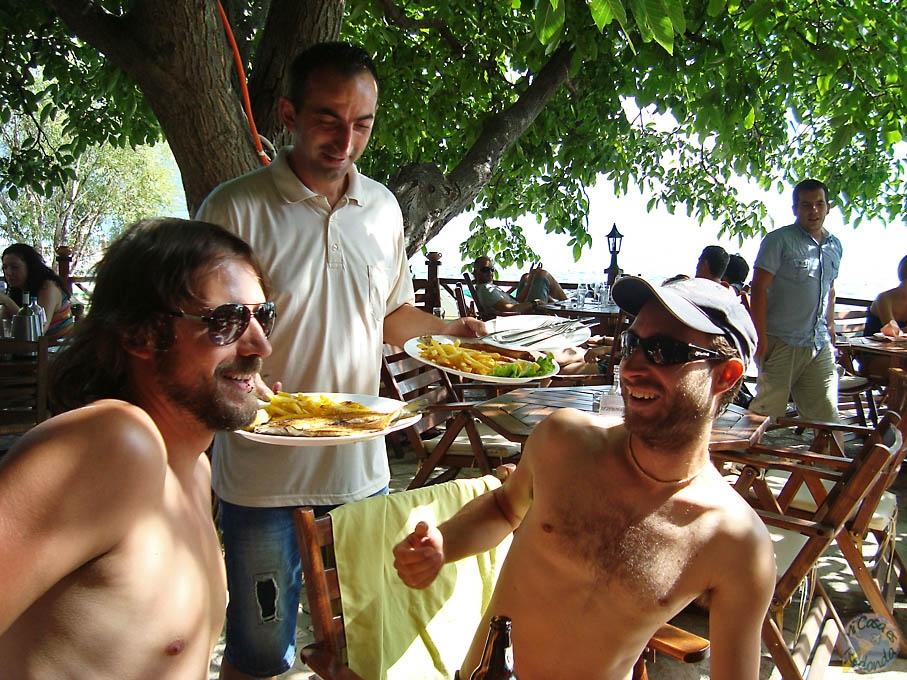 El rico pescadito en Ohrid