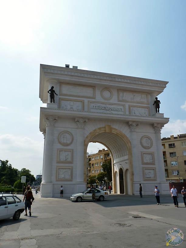 Arco del Triunfo en Skopje