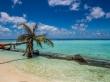 La playa para los turistas en Maafushi
