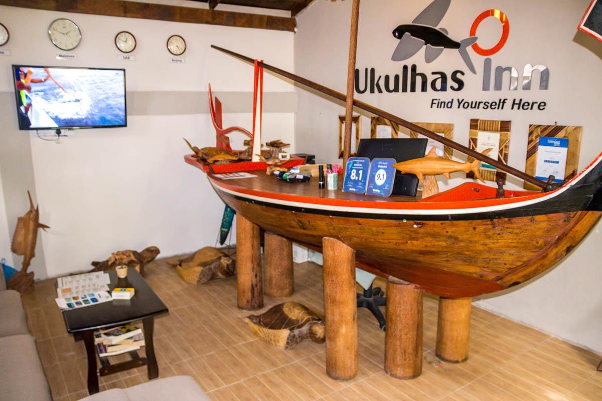 Recepción, Ukulhas Inn
