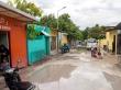 Después de la tormenta las calles no han drenado muy bien, Ukulhas
