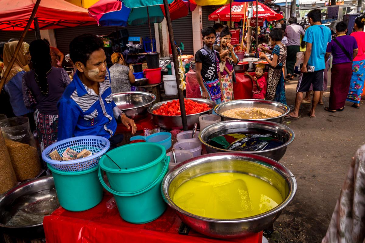 Refrescos callejeros, Yangon