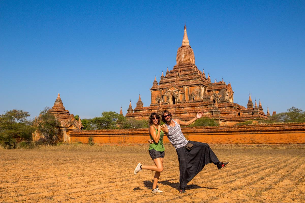 Seguimos con las selfies en el campo! O en Bagan