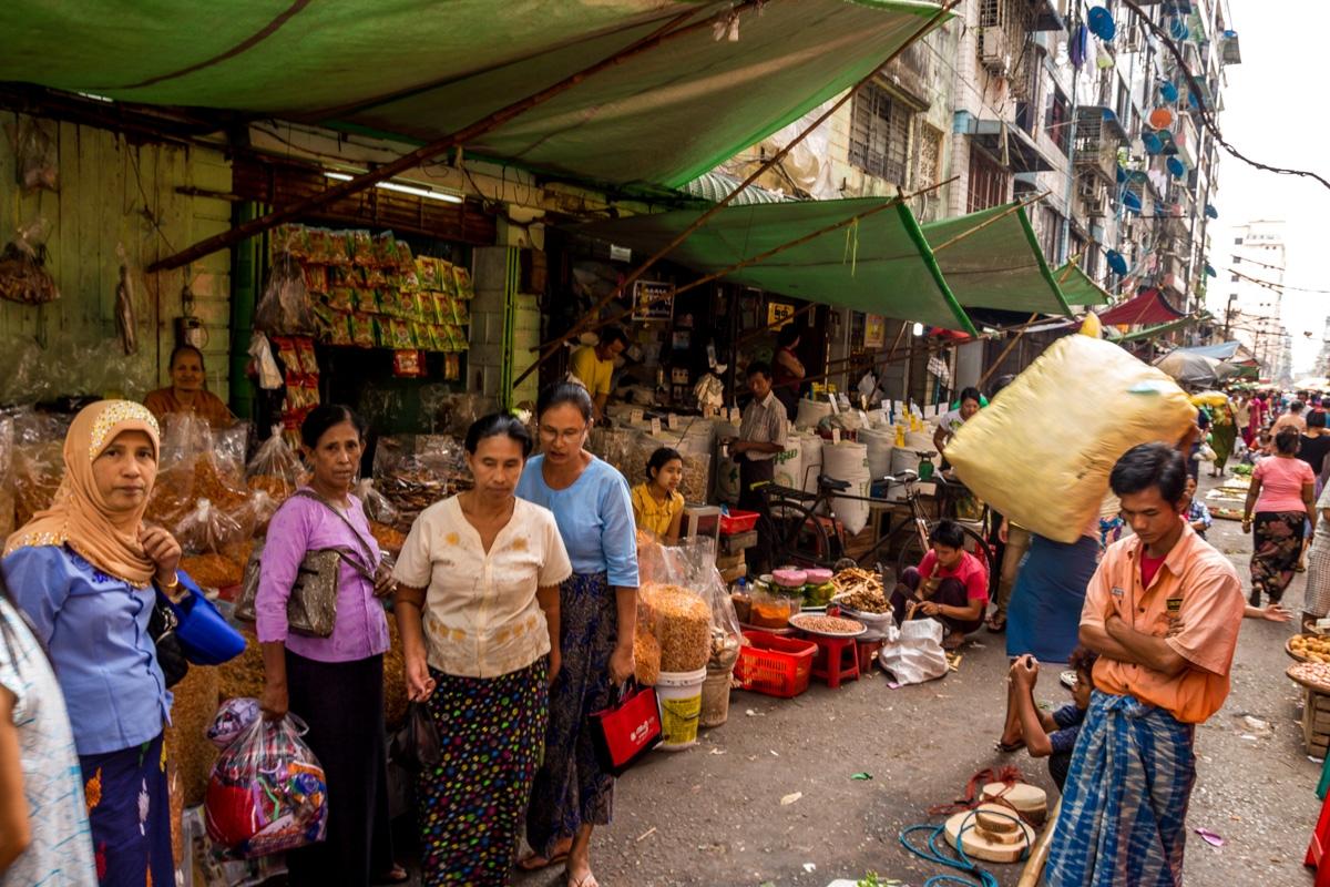 No acostumbran demasiado a los turistas, Yangon