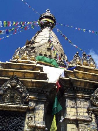 Stupa en lo alto del templo, Katmandú