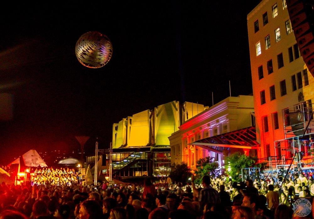 Big Bang, abriendo el festival de Nueva Zelanda en el Civic Centre, Wellington